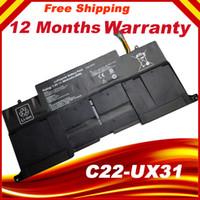 dizüstü bilgisayar pilleri asus toptan satış-C22-UX31 C23-UX31 Orijinal laptop Batarya Asus Ultrabook Için ZENBOOK UX31 UX31A UX31E 7.4 V 6840 MAH 50WH