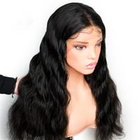 doğal mumlu peruklar toptan satış-8A 150% Yoğunluk Tam Dantel İnsan Saç Peruk Hint GaGa Saç Doğal Dalga Saç Ücretsiz Nakliye Ile
