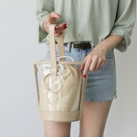 Wholesale pink sand bag resale online - Belle2019 Single Rui Man Shoulder Satchel Woman Ins Exceed Fire Pvc Transparent Jelly Package Hundred Take The Hand Sand