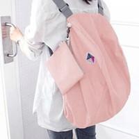 eşsiz kız sırt çantaları toptan satış-Multi-fonksiyonel Katlanabilir Sırt Çantası Kadın Okul Çantaları Genç Kız için Benzersiz Tasarım Katlanır Omuz Çantası Büyük Kapasiteli Dayanıklı