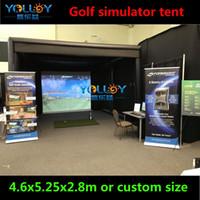 llave azul al por mayor-Tienda de simulador de golf inflable para deportes, sala de simulación caliente, 15ftW * 17ftL * 9.2ftH HIGH durable