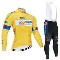 Colombia cycling long sleeve jersey 2021 Maillot ciclismo, bike riding clothes, Motorcycle Cycling Clothing