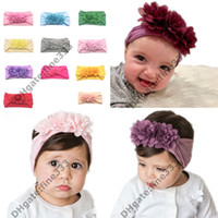 Wholesale white cotton bandanas resale online - Turban Headband Children Kids DIY Bowknot Headbands Baby Cotton Bow Headwraps Hair Accessories Hair Bands Bandana