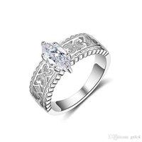 farbe pops ring groihandel-Pop-Dur Mode UHotstore heiße Verkäufe Luxus-Ring-gepflasterte Rechteck CrystalCZ WeddingEngagement Roségold Farbe Ring Schmucksachen für Frauen