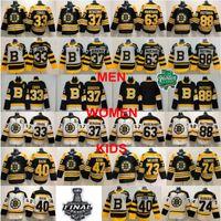 camisetas de hockey de boston al por mayor-Hombre Boston Bruins Charlie McAvoy Jersey Jake DeBrusk Zdeno Chara Patrice Bergeron Brad Marchand David Pastrňák Tuukka Rask Torey Krug hockey