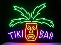luces tiki bar al por mayor-New Star Neon Sign Factory 17X14 pulgadas Real Glass Lámpara de señal de neón para Beer Bar Pub Garaje Habitación Tiki Bar TN727.