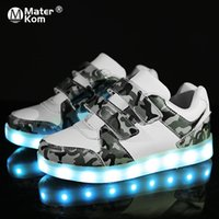 Wholesale luminous shoes children sneakers resale online - Children Boys Shoes Size USB Charging with Sole Enfant Led Light Glowing Luminous Sneakers for Girls Shoes Kids Led