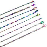 mais jóias fazendo venda por atacado-Rainbow Color Mais Escolha Mais Estilo de Aço Inoxidável Cadeia Colar de Jóias Link Fazer Para DIY Jóias Acessório Menina Presente Do Menino