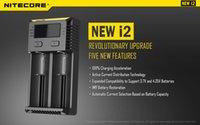 chargeur d4 achat en gros de-2019 Original Nitecore Nouveau I2 Digicharger LCD Chargeur de Batterie Universel Nitecore i2 Chargeur VS Nitecore i2 D2 D4 UM10 UM20 Navire Libre