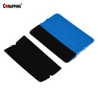 Wholesale car adhesive resale online - 6pcs Spare Fabric scraper Squeegee Cloth Protective Felt with Self Adhesive Glue Sticker Replacement Car Vinyl Scraper