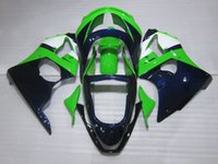 zx6r tam kiti toptan satış-Kawasaki Ninja ZX6R 1998 1999 ZX6R 98-99 tam set için Ücretsiz Özel Kalafatlama kiti ABS plastik grenaj kitleri ZX 6R 98 99