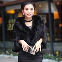 Wholesale mink skirts for sale - Cool Supplies Pattern Suit dress Fox Hair Lead Short Fund Fur Straw Plaited Article Weave Bat Shirt Ma am Mink Loose Coat Jacket