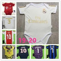Wholesale club jerseys resale online - Real Madrid Baby Jersey High quality soccer club baby shirt stars MBAPPE month crawling suit