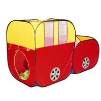 casas de plastico para niños al por mayor-Red Sports Car Plastic Ocean Ball Piscina para niños Juego Play Tent House Play Hut Niños Ocean Balls Pit Pool Tienda No Ball