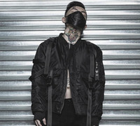 Wholesale punk patch clothing for sale - TKPA Mens Dark Black MA1 Jackets Rock Punk Style Winter Cotton padded Warm Jacket Coats Hombres Clothing