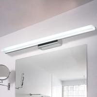 espejos de baño largos al por mayor-Más largo LED luz de espejo 0.4 M ~ 1.5 M AC90-260V moderna lámpara de pared de acrílico cosmética baño iluminación impermeable envío gratis