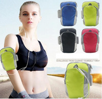 Wholesale nylon wrist bag resale online - Cycling equipment outdoor sports fitness cycling running waterproof nylon arm bag wrist bag mobile phone armband the arm band