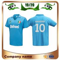 1cf1823a8e3 Wholesale retro football shirts for sale - Group buy Napoli Retro Soccer  Jersey Napoli Coppa Italia
