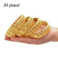 novia puede al por mayor-JHplated 2019 New can open fashion Jewelry Brazalete etíope para Mujeres Dubai Pulsera Joyería Africana Regalos Árabes Novia joyería