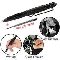 Wholesale multipurpose camping tools resale online - Self Defense Pen High Strength EDC Survival Tool Tactical Pen Glass Breaker Aluminum Outdoor Hiking Multipurpose Ballpoint Pen
