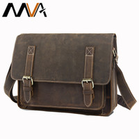 Wholesale briefcase for sale - Group buy Men s shoulder crossbody laptop man bag work genuine leather briefcase business bags men s messenger bag male for documents