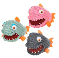 Wholesale interactive plush toys for sale - Group buy 30cm Pet Chew Toys Dog Piranha Sound Toy Squeaking Plush Toys Pet Chew Training Product Funny Interactive Toy for Puppy CCA11121