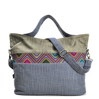 Large Fabric Tote Bags for Women Tribal Ethnic Boho Chic Bohemian Gypsy Canvas  Handbag Messenger Bag Big Shopping Shoulder Bag 059b84aa9d984
