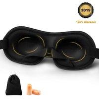 ohren blockieren großhandel-3D-Reise-Schlaf-Augen-Masken Sleeping-Augen-Licht-Sperrmaske mit Rauschunterdrückung Ohrstöpsel weiche Schlafmaske Blindfold Relax
