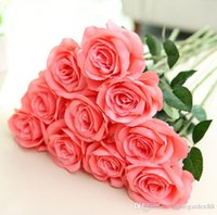 Wholesale high end artificial flowers resale online - High end simulation rose silk cloth artificial flower home wedding decoration engineering software factory direct sales