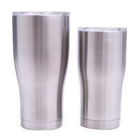 bardak toptan satış-Paslanmaz çelik kıvrık tumblers 30 OZ 20 OZ çift duvar vakum bel şekli su bardaklar yalıtım bira kahve kupalar MMA1908