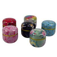 Multifunction Chinese Style Tea Caddies Round Metal Tea Box With Lid Tea Jar Mini Storage Boxes Caddy Coffee Powder Cans C19032701