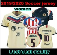 Wholesale mexico jersey red for sale - Group buy new MEXICO Club America WOMEN Soccer Jerseys Home away LIGA MX GIOVANI P AGUILAR Chivas Ladys Female football shirts