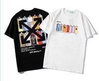 mode-t-shirt frau straße großhandel-Sommer Street wear Europa Paris Mode Männer Hohe Qualität Big Broken Hole Baumwolle T-shirt Casual Frauen T-shirt S-XXL Paar tragen