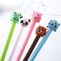 Wholesale cat stationery pens for sale - Group buy 30 Cartoon Animal Gel Pens Cute Pig Cat Panda mm black ink signature pen Stationery gift Office School Supplies