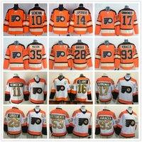 turuncu hokey toptan satış-2012 Turuncu Kış Miras Klasik Philadelphia Flyers Hockey Jersey Kris Versteeg Sean Couturier Sergei Bobrovsky Jakub Voracek Simmons