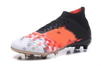 обувь для новобрачных оптовых-2018 Мода Predator 18 FG мужские футбольные бутсы де футбольные бутсы высокий топ Predator Telstar 18+ футбольные бутсы Neymar футбольные кроссовки Zapatos