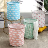 Wholesale cloth toy baskets for sale - Group buy Folding dirty clothes basket household linen cloth storage basket underwear bathroom storage toy basket
