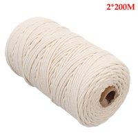 ingrosso corda in cotone lavorato a maglia-Corda a mano Cordonata DIY Tapestry Artisan Macrame Long Knitting Tenda da parete Hanging Craft Cotton