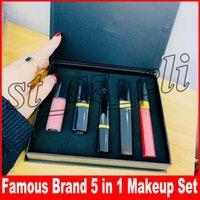 Wholesale lips making for sale - Famous Luxury Brand makeup set Matte lipstick eyeliner mascara Lip Gloss lipgloss in make up kit