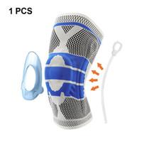 espinilleras de baloncesto al por mayor-1 pieza 3D tejido de pesas de silicona soporte de rodilla voleibol baloncesto menisco shin bone protector deportes seguridad rodilleras