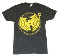 Wholesale records logos online - Wu Tang Clan RPM Record Album Logo Heather Grey T Shirt New Official SoftFunny Unisex Casual Tshirt