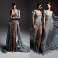 ffe1717827f Wholesale chiffon split front maternity dress for sale - Sexy Illusion Prom  Dresses High Side Split