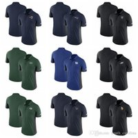 polo da marinha venda por atacado-Homens Filadélfia Eagles Camisa Oakland Raiders New York Jets Los Angeles Ram Gigantes Patriotas Vikings Minnesota Marinha Evergreen Camisa Polo