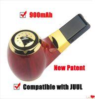 bateria da pilha botão lr41 venda por atacado-1pcs KF 01 USB Passthrough carregador de bateria Vape E Cig E Cachimbo Mod vaporizador compatível magnético com JUUL Pods cartuchos vazios
