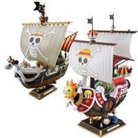 ingrosso modelli di navi pirata-Modello di simulazione One Piece giocattolo nave pirata THOUSAND SUNNY e Going Merry modello di assemblaggio Action Figures