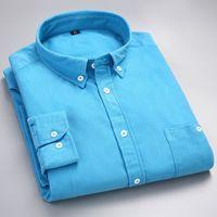 camisa de pana para hombre l al por mayor-homme hombres camisa de vestir la camisa chemise de los nuevos hombres de pana hombres de las camisas para hombre de las camisas masculinas Chemise homme manche larga