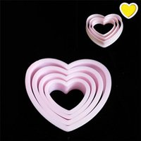 Wholesale heart cookies cutter for sale - Group buy 4pcs set Heart Shape Cookie Cutter Biscuit Mold Breakfast Bread Pink Cake Mold DIY Fondant Mould Decoration