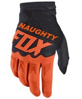 gants de vélo renard achat en gros de-Nouveau Naughty FOX MX Racing Orange Gants Enduro Racing Motocross Downhill Dirt Bike Gants Vélo