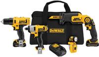 batterien für werkzeug großhandel-DEWALT 12-Volt-MAX-Lithium-Ionen-Akku-Combo-Kit (4-Werkzeug) mit (2) Batterien