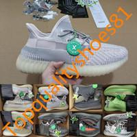 medias negras al por mayor-Con estuche STOCK X Kanye West V2 Synth Zapatos para correr para mujer para hombre Entrenadores Lundmark Antlia Black Angel Diseñador de zapatos deportivos Tamaño 36-48